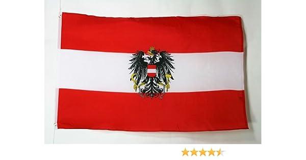 AZ FLAG Bandera de Austria con Aguila 250x150cm - Gran Bandera AUSTRÍACA con Armas 150 x 250 cm: Amazon.es: Jardín