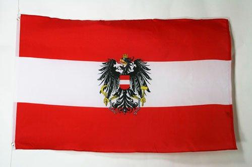 AZ FLAG Bandera de Austria con Aguila 150x90cm Bandera AUSTR/ÍACA con Armas 90 x 150 cm