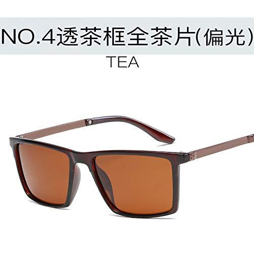 box rétro Soleil Soleil Mode polariseur tea de de full Mode Hommes Lunettes de Lunettes Tea Sports air Plein de Burenqiq TSgRqR