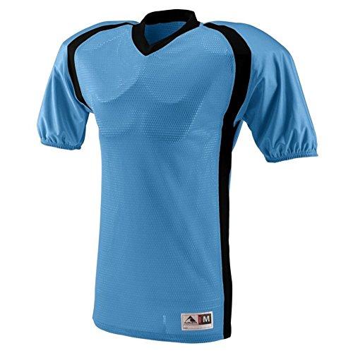 Augusta Activewear Blitz Jersey, Columbia Blue Black, XXX Large (Dazzle Shorts Softball Womens)