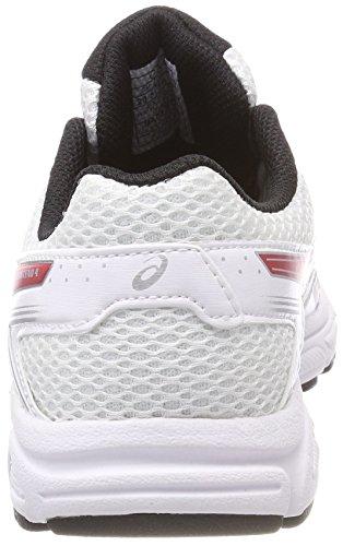 Asics Gel-Contend 4 GS, Zapatillas de Running Para Niños Multicolor (Whiteonyxclassic Red)