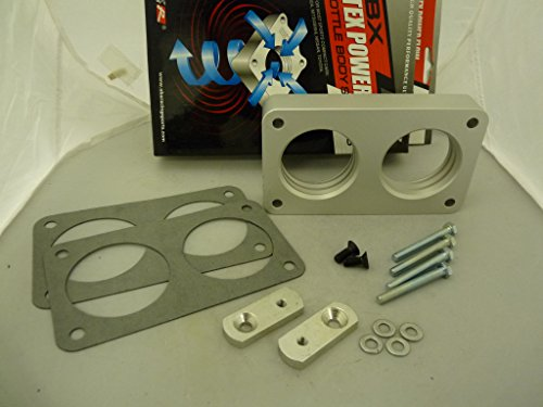 OBX Votex PowerFlow Throttle Body Spacer 99-04 FORD F-250 F-350 SUPER DUTY PICKUP V10 6.8L (Body Pickup Throttle Spacer)