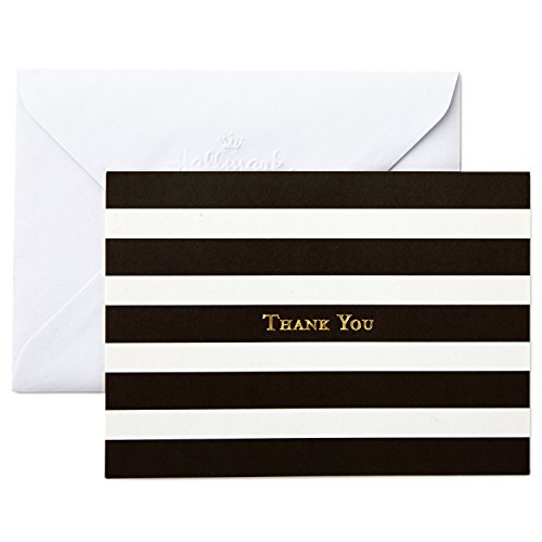 Hallmark Thank You Cards, Striped (40 Blank Thank You Notes with Envelopes for Weddings, Business, Birthdays, Showers, All Occasion)