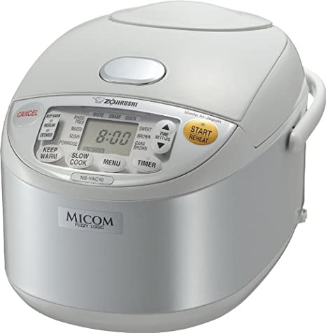 Zojirushi NS-YAC10 Umami Micom Rice Cooker and Warmer, 5.5 Cup (Pearl White) NS-YAC10WE