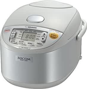 Zojirushi NS-YAC10 Umami Micom Rice Cooker and Warmer, Pearl White, 5.5 Cup Capacity
