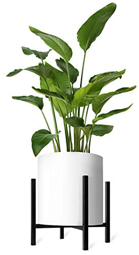 Mkono Plant Stand Mid Century Modern Tall Flower Pot Stands Indoor Outdoor Metal Potted Plant Holder, Plants Display Rack Fits Up to 14 Inch Planter(Planter Not Included) (Indoor Large Pots)