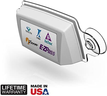 2 Pack IPass Holder//Toll Pass Holder for Most US States//Toll Pass Windshield Mount//Easy to Install and Remove//with 4pcs Toll Pass Mounting Strips//UV-Protective AutoBoxClub Clear EZ Pass Holder