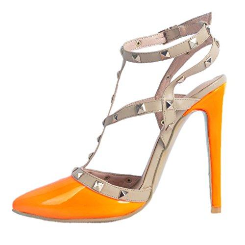 Kolnoo de caña alta Pantuflas naranja Mujer nagznwx
