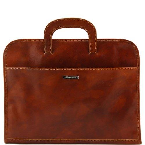 Tuscany Leather - Bolso de asas de piel de cerdo para hombre Beige beige