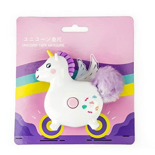 Unicorn Retractable Measuring Tape Travel Soft Tape Measure Portable Pocket Student Cartoon Tape Measure 60-Inch&150CM