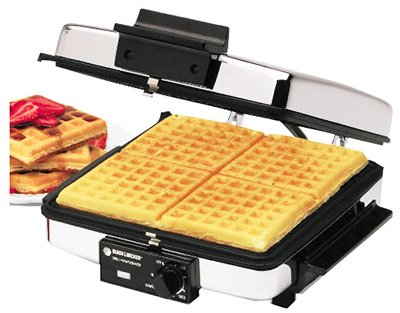 Black & Decker Grill & Wafflebaker 900 W Chrome by Applica/Spectrum Brands