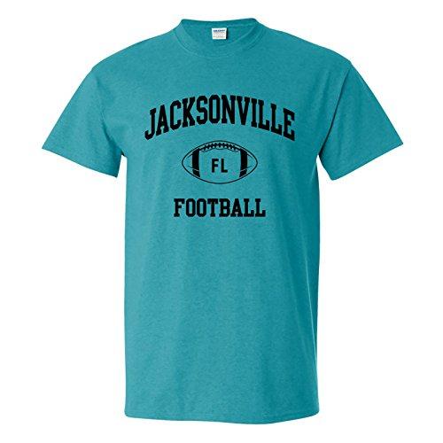 - Jacksonville Classic Football Arch Basic Cotton T-Shirt - X-Large - Antique Jade