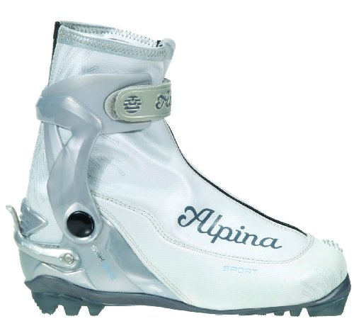 Alpina Ladies-ssk Eve Sport Serie Cross Country Scarponi Da Sci Nordico Bianco Perla