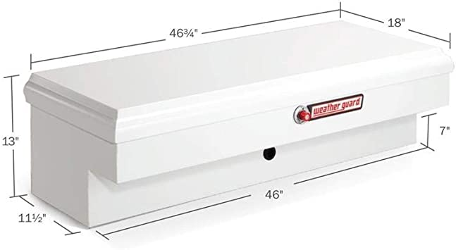 Weather Guard 185301 Lo-Side White Steel Box