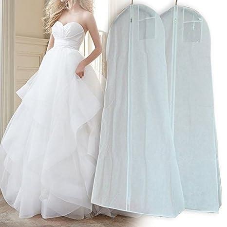Bolsa de Almacenamiento con Cremallera para Colgar Vestidos de Novia 160 * 80 * 22cm Sue Supply A a Prueba de Polvo