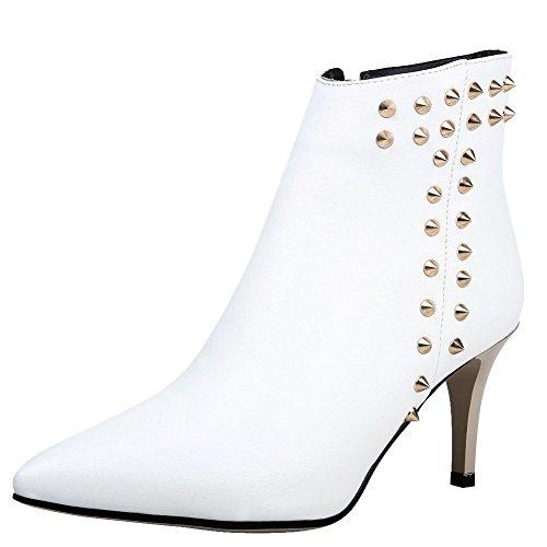 MissSaSa Elegnate Scarpe Bianco Moda e Cono col Donna Alto Tacco gHwYgx