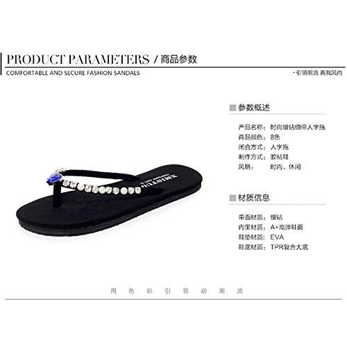 Qingchunhuangtang Seashore Fondo Pantofole trapano rosa nero v0z8wv