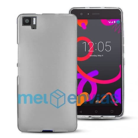 Funda carcasa para BQ AQUARIS M5 Gel Tpu LISO MATE Color TRANSPARENTE