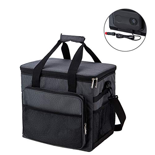 YAPASPT Leak Proof Cooler Bag-Soft Sided Insulated Coolers with Hard Liner Car Cable Charging Directly Connect Coolers for Lunch Picnic Camping Hiking Beach BBQ Party, 36 Cans