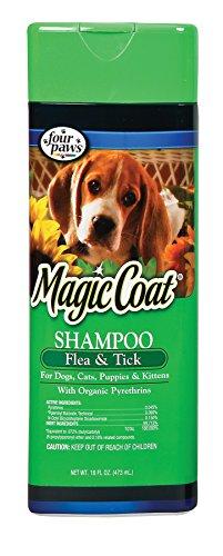 Four Paws Magic Coat Flea and Tick Dog Grooming Shampoo, 16oz