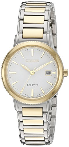 Citizen Eco-Drive Women's 'Sport' Quartz Stainless Steel Casual Watch, Color: Two Tone (Model: EW2374-56A) (56a Ladies Watch)