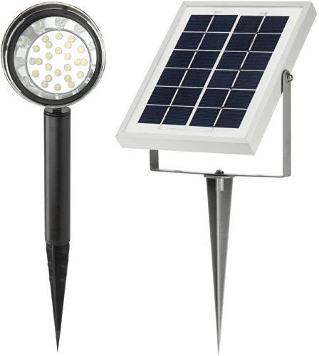 MicroSolar-Lithium-Battery-24-LED-High-Lumen-Solar-Spotlight-Solar-Flag-Pole-Light-with-16-Foot-Wire-Automatically-Working-from-Dusk-to-Dawn-at-Good-Sunshine