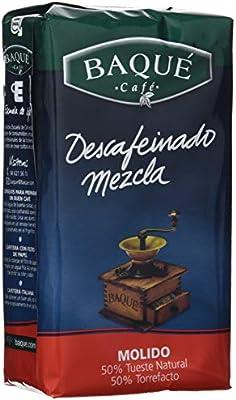 Cafés Baqué Café Molido Descafeinado mezcla - 250 gr: Amazon.es ...