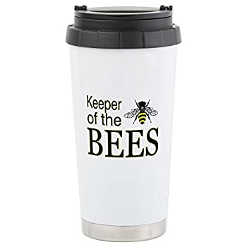 CafePress - keeping bees Stainless Steel Travel Mug - Stainless Steel Travel Mug, Insulated 16 oz. Coffee Tumbler