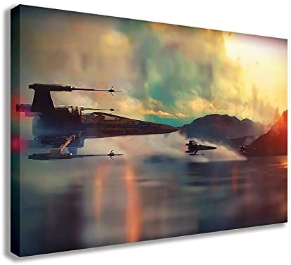 Star Wars X Wing Fighters Over Water Canvas Wall Art 44 X 26 / 110 X 65cm