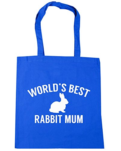 10 litres x38cm 42cm Blue Bag mum World's best Tote Cornflower rabbit Gym Shopping HippoWarehouse Beach CqfPa7wU