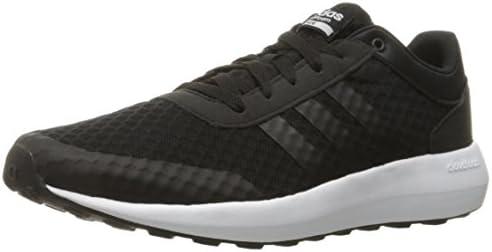 adidas Men's Cloudfoam Race Running Shoe, Black/White, 7 D-Medium ...