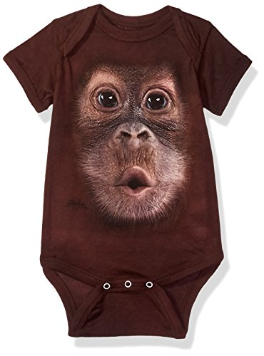 The Mountain Bf Baby Orangutan Onesie Infant Baby Onesie, Brown, 6 Month Old Baby