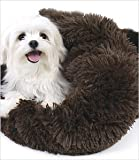 Shag Cuddle Cup Bed For Dogs By Susan Lanci - Brown - Large by Susan Lanci Designs