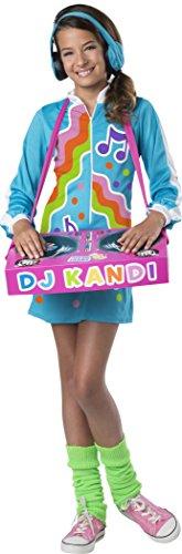 Beat It Dance Costume (InCharacter DJ Kool Kandi Costume, Multicolor, Small)