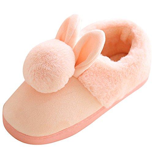 Chaud Peluche Coton Chaussures Chaussons Slippers Pantoufles Femme Homme aRgW7AOcO
