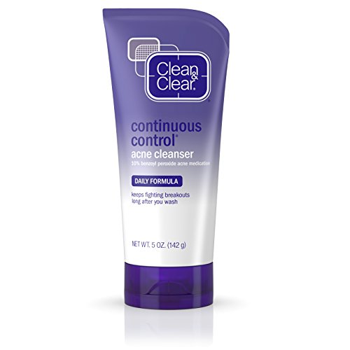 Clean & Clear Continuous Control Acne Facial Cleanser For Clear Skin, 5 Fl. Oz.(pack of 6)