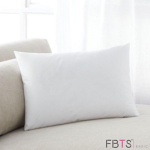 (FBTS Basic Rectangle Throw Pillow Insert 17x27 Inch 100% Cotton Hypoallergenic Stuffer Oblong Pillow)