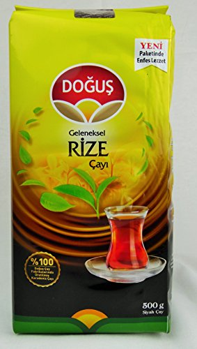 Dogus Exclusive Turkish Black Tea Series (Traditional Rize Tea 16.9 Oz / 500 Gr , Single Pack ) ()
