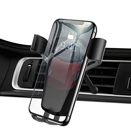 Car Phone Mount, Wonsidary Gravity Air Vent Phone Holder for Car Auto Clamping Adjustable with Hands Free, Compatible iPhone X/8/7P/ 5SE, Galaxy S6/7 Note 8, Huawei, Other Smartphone