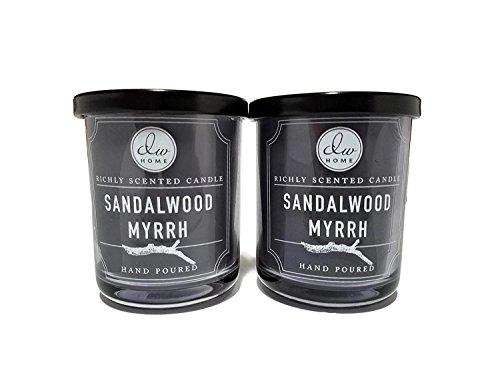 (Decoware Richly Scented Sandalwood Myrrh Candle 4oz- 2 Pack )