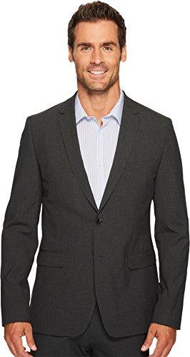 Calvin Klein Men's Slim Fit Button Notch End Bi-Stretch Infinite Jacket, Iron gate, Medium R ()