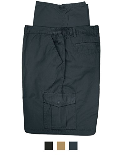 Full Blue Big & Tall Men's Cargo Pants 100% Cotton by 48 X 30 (Elastic Work Pant)