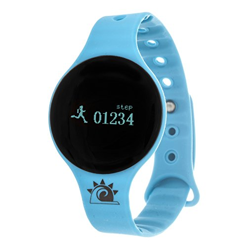 Zunammy Women's 'Activity Tracker with Call and Message Reminders' Digital LED and Rubber Watch, Color:Blue (Model: NWTR022BL)