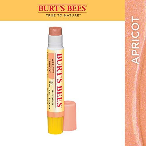 Burt's Bees 100% Natural Moisturizing Lip Shimmer, Apricot - 1 Tube