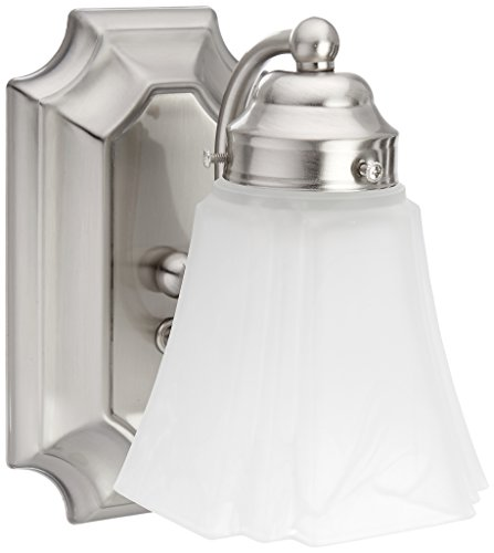 (Boston Harbor RF-V-041-BN-3L 5875638 Dimmable Vanity Light Fixture, (1) 60/13 W, Medium, A19/Cfl Lamp, Brushed Nickel Satin)