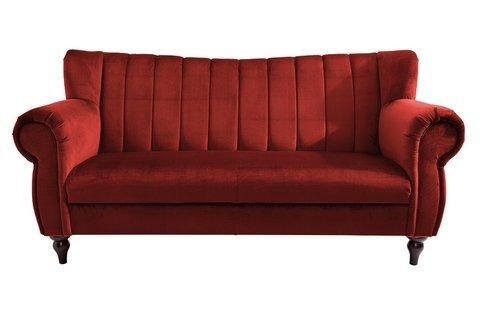 heine unisex speisesofa breite 168 cm rot ca 9616875 cm bezug aus 100 polyester in samtoptik amazonde kche haushalt - Esssofa