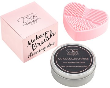 dream-beauty-box-makeup-brush-cleaner-duo-kit-pink-textured-silicone-heart-mat-cleaning-pad-quick-co