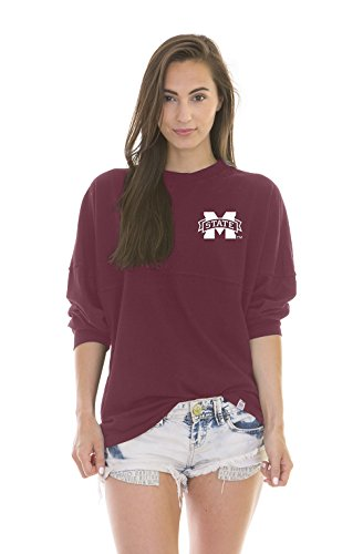 NCAA Mississippi State Bulldogs Women's Jade Long Sleeve Football Jersey, Maroon, ()