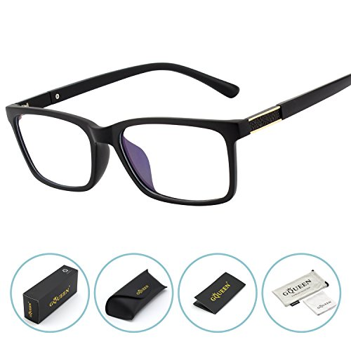 GQUEEN Blue Light Blocking Computer Glasses,Anti Glare Eye Fatigue with TR90 Frame Transparent ()