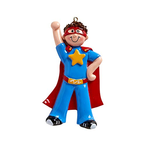 Personalized Super Boy Christmas Tree Ornament 2019